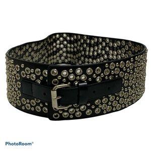 Hot Topic Women's Wide Grommet Studded Cinch Belt
